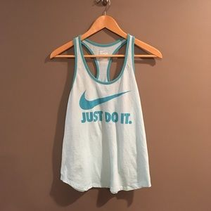 Nike Just Do It Blue Turquoise Tank Top Size L